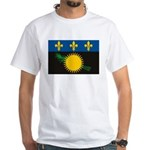 Guadeloupe Flag White T-Shirt