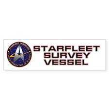 Starfleet Survey Vessel Bumper Sticker