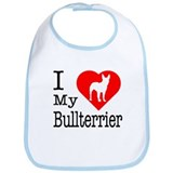 I Love My Bullterrier Bib