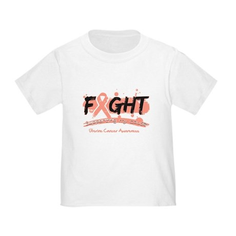 Fight Uterine Cancer Cause Toddler T-Shirt