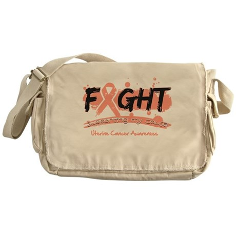 Fight Uterine Cancer Cause Messenger Bag