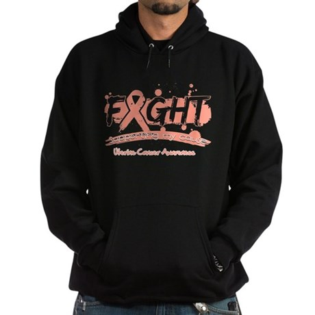 Fight Uterine Cancer Cause Hoodie (dark)