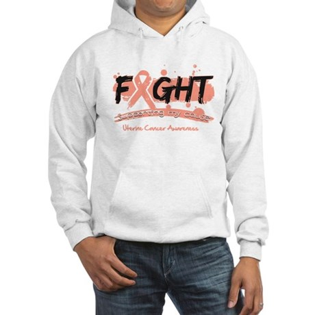 Fight Uterine Cancer Cause Hooded Sweatshirt