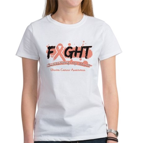 Fight Uterine Cancer Cause Women's T-Shirt