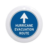 Hurricane Evacuation Route Ornament (Round)