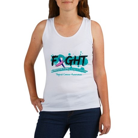 Fight Thyroid Cancer Cause Women's Tank Top