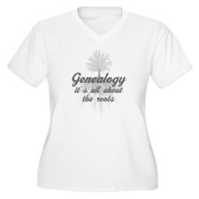 Silver Genealogy Family Roots T-Shirt
