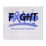 Fight Stomach Cancer Cause Throw Blanket