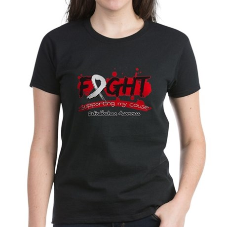 Fight Retinoblastoma Cause Women's Dark T-Shirt
