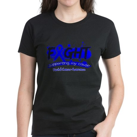 Fight Rectal Cancer Cause Women's Dark T-Shirt