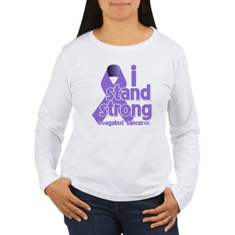 I Stand Hodgkin's Lymphoma Women's Long Sleeve T-S