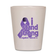 I Stand Hodgkin's Lymphoma Shot Glass