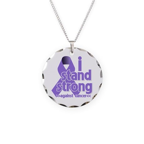I Stand Hodgkin's Lymphoma Necklace Circle Charm