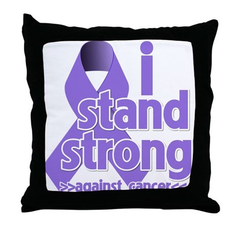 I Stand Hodgkin's Lymphoma Throw Pillow