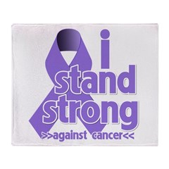 I Stand Hodgkin's Lymphoma Throw Blanket