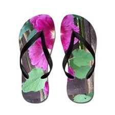 Hollyhocks Flip Flops