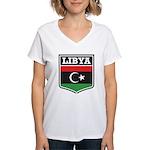Libya Women's V-Neck T-Shirt
