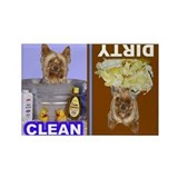 Cute Yorkshire terrier Rectangle Magnet