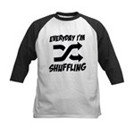 Everyday I'm Shuffling Kids Baseball Jersey