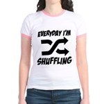 Everyday I'm Shuffling Jr. Ringer T-Shirt