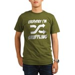 Everyday I'm Shuffling Organic Men's T-Shirt (dark