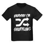 Everyday I'm Shuffling Kids Dark T-Shirt