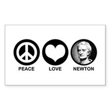 Peace Love Newton Decal