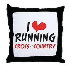 I heart (love) running CC Throw Pillow