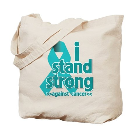 I Stand Ovarian Cancer Tote Bag