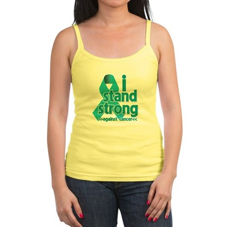 I Stand Ovarian Cancer Jr. Spaghetti Tank