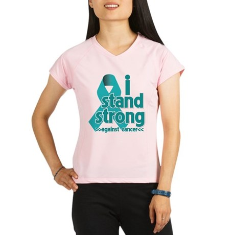 I Stand Ovarian Cancer Performance Dry T-Shirt