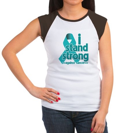 I Stand Ovarian Cancer Women's Cap Sleeve T-Shirt