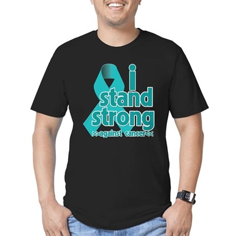 I Stand Ovarian Cancer Men's Fitted T-Shirt (dark)