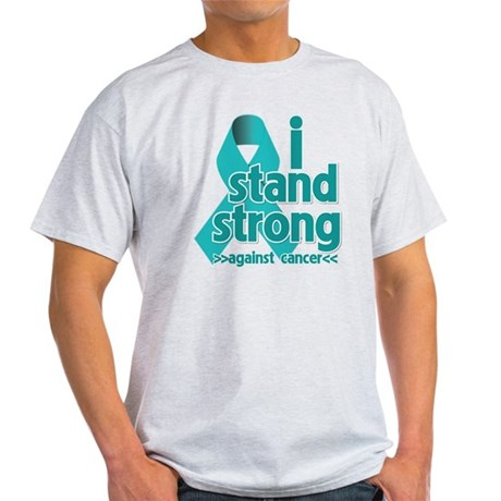 I Stand Ovarian Cancer Light T-Shirt