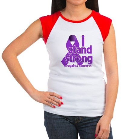 I Stand Pancreatic Cancer Women's Cap Sleeve T-Shi
