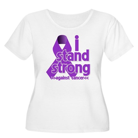 I Stand Pancreatic Cancer Women's Plus Size Scoop