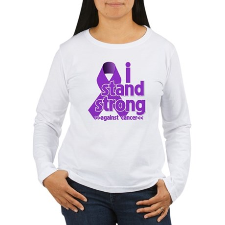 I Stand Pancreatic Cancer Women's Long Sleeve T-Sh