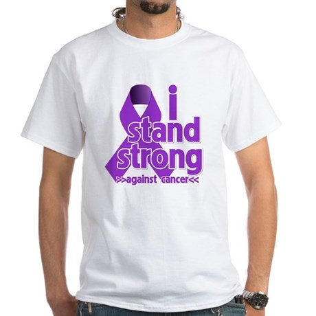 I Stand Pancreatic Cancer White T-Shirt