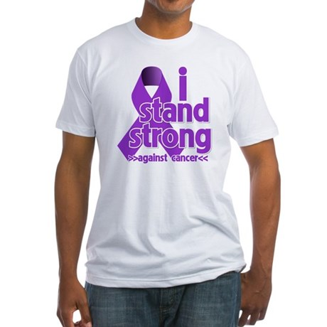 I Stand Pancreatic Cancer Fitted T-Shirt