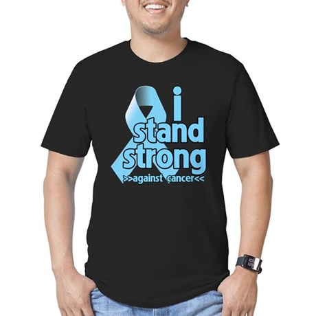 I Stand Prostate Cancer Men's Fitted T-Shirt (dark