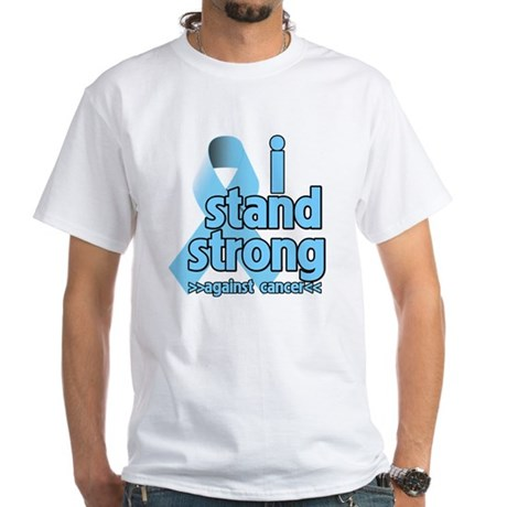 I Stand Prostate Cancer White T-Shirt
