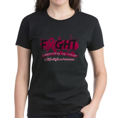 Fight Multiple Myeloma Cause Women's Dark T-Shirt