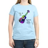 Women's Groovy Ukulele Light T-Shirt