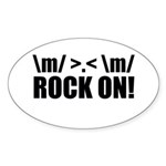 Rock On Sticker (Oval 50 pk)