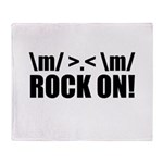 Rock On Throw Blanket