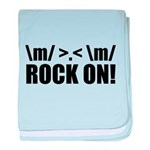 Rock On baby blanket