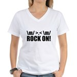 Rock On Women's V-Neck T-Shirt