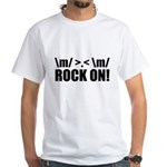 Rock On White T-Shirt