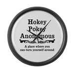 Hokey Pokey Large Wall Clock