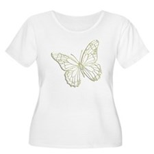 Embossed Butterfly T-Shirt
